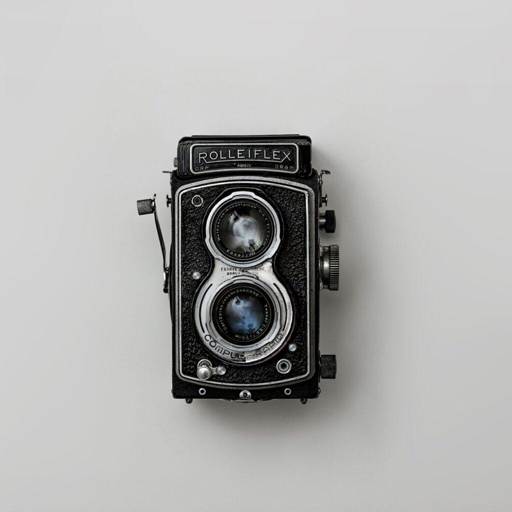 Alte Rolleiflex Mittelformatkamera